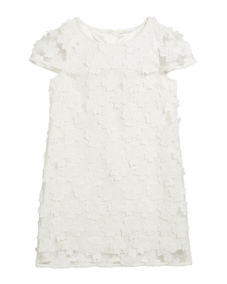 Chloe 3D Floral Applique Dress, Size 7-16