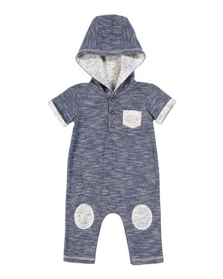 Miniclasix Hooded Romper w/ Knee Patches, Size 3-24