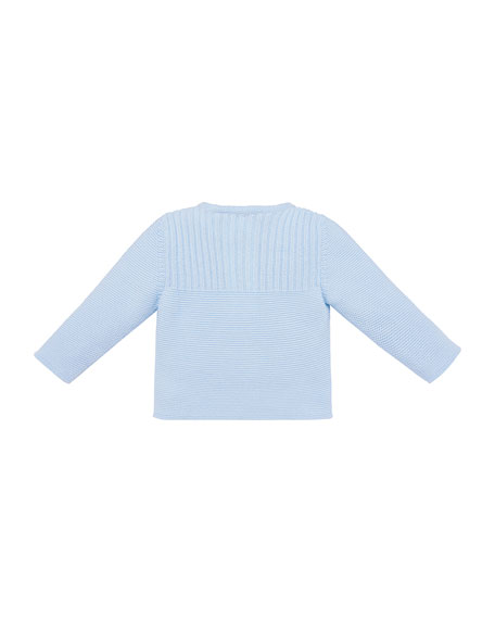 Knit Cotton Cardigan, Size 3M-2