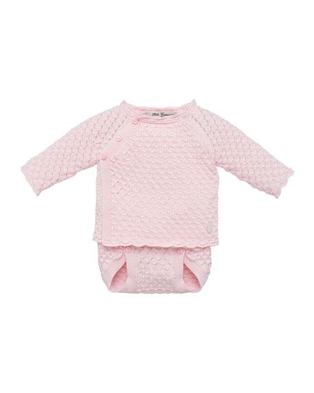Pili Carrera Waffle Knit Sweater w/ Matching Diaper