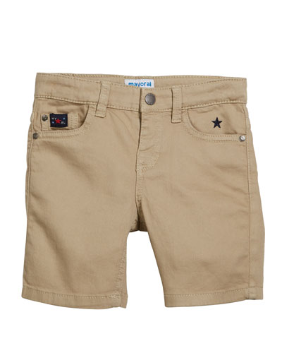 Stretch Twill Shorts  Size 4-7