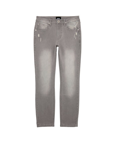 Boys' Jagger Slim Stress Faded & Distressed Pants  Size 8-14