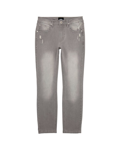Boys' Jagger Slim Stress Faded & Distressed Pants  Size 4-7