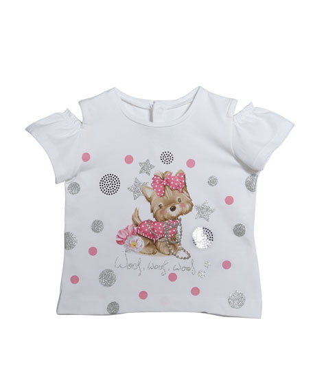 Mayoral Short-Sleeve Puppy Graphic T-Shirt, Size 12-36 Months