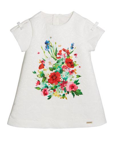 Jacquard Floral-Print A-Line Dress  Size 12-36 Months