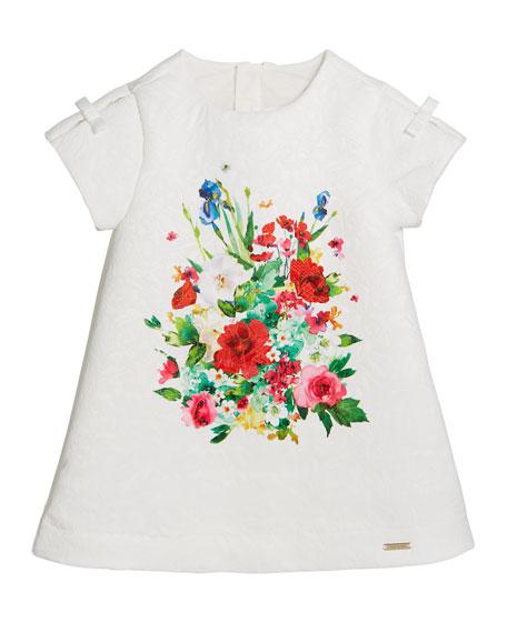 Jacquard Floral-Print A-Line Dress, Size 12-36 Months