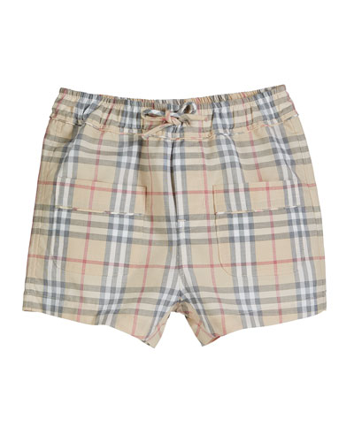Conroy Washed Check Shorts  Size 3-18 Months