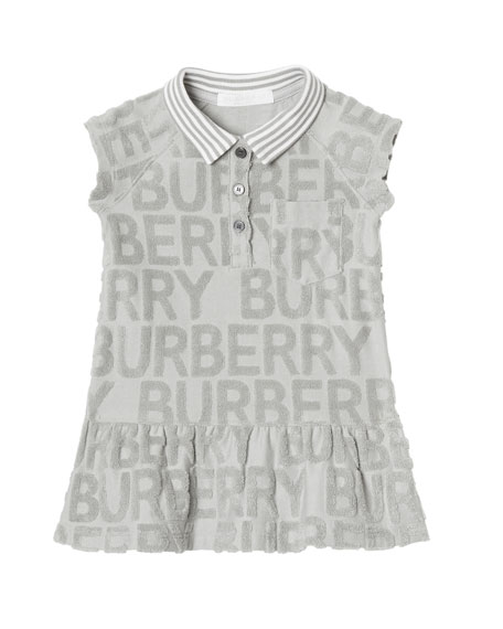 57e4893d7 Burberry Erina Check Graffiti-Logo Dress