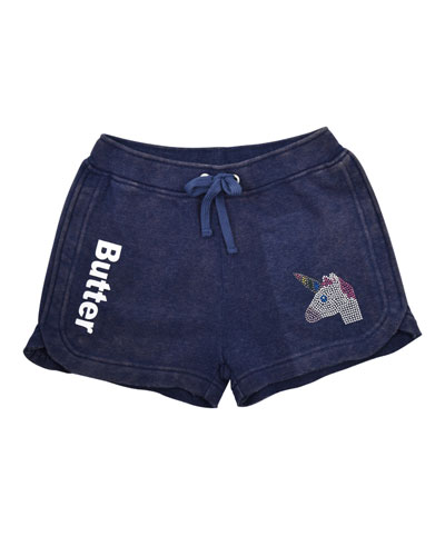 Crystal Unicorn Varsity Shorts  Size S-XL