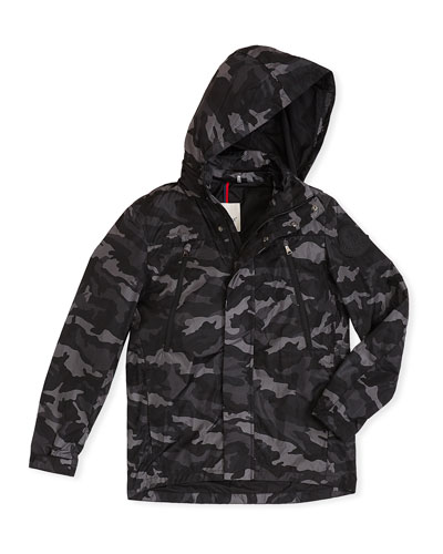 Ribble Hooded Camo Jacket  Size 8-14