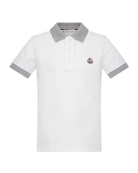 Contrast Trim Short-Sleeve Polo Shirt, Size 8-14