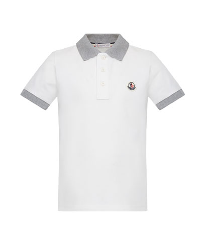 Contrast Trim Short-Sleeve Polo Shirt  Size 4-6
