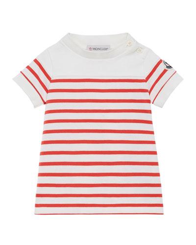 Striped Short-Sleeve Dress  Size 12M-3
