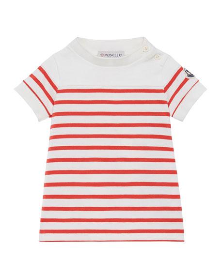 Moncler Striped Short-Sleeve Dress, Size 12M-3