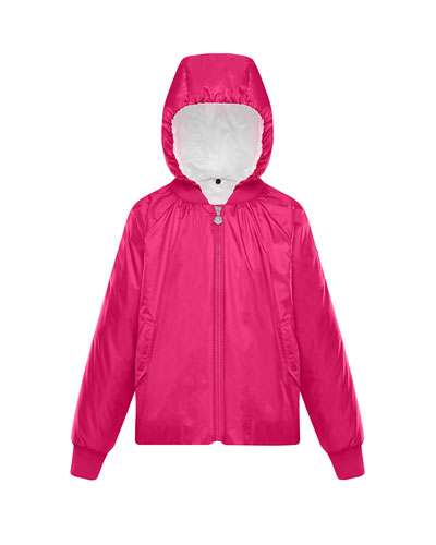 Nylon Hooded Bomber Jacket  Size 4-6