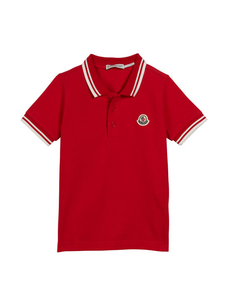 f3d84efd24d6 Moncler Polo Shirt w  Striped Tipping