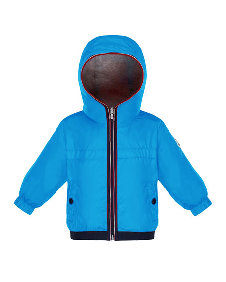 Moncler Hooded Nylon Jacket, Size 12M-3