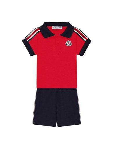 Polo Shirt & Shorts Set  Size 3-24 Month