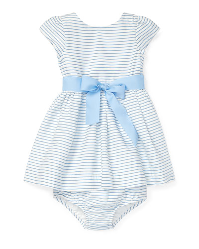Striped Woven Dress w/ Matching Bloomers  Size 6-24 Months