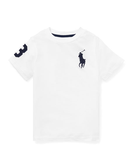 Ralph Lauren Childrenswear Jersey Cotton T-Shirt w/ Number