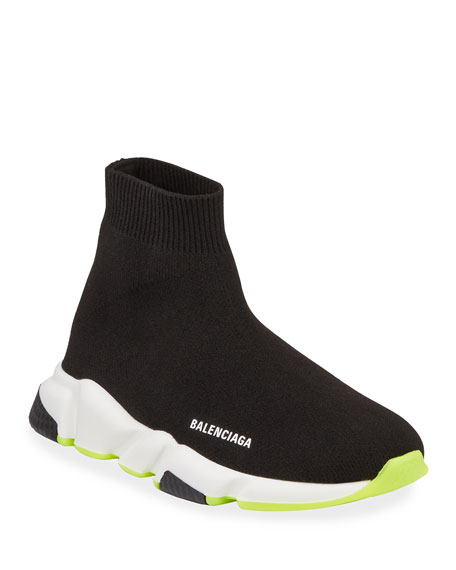 Balenciaga Speed Mid-Top Trainer Sock Sneakers, Toddler/Kids