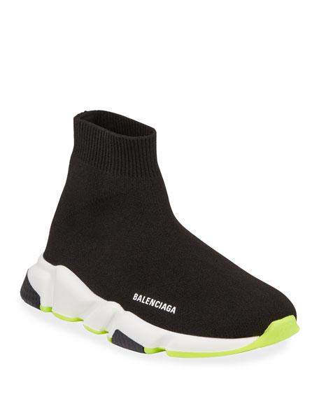 c0951b3335a752 Balenciaga Speed Mid-Top Trainer Sock Sneakers