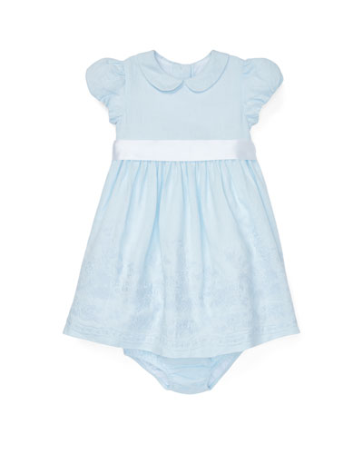 Embroidered Woven Dress w/ Matching Bloomers  Size 6-24 Months