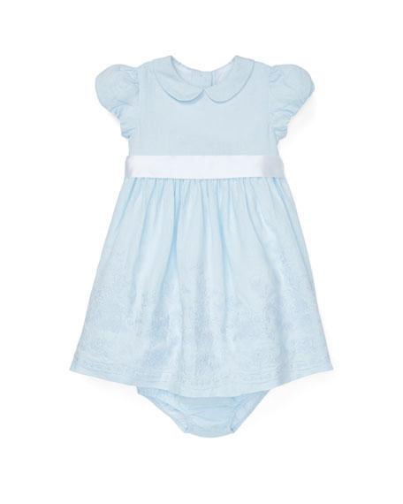 Ralph Lauren Childrenswear Embroidered Woven Dress w/ Matching
