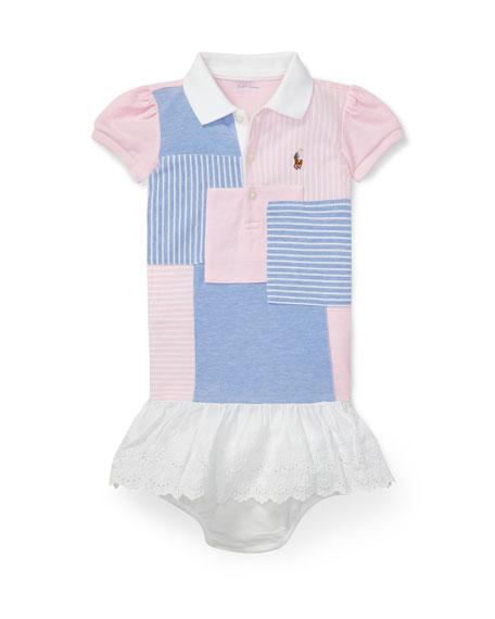 Ralph Lauren Childrenswear Knit Patchwork Dress w/ Bloomers,