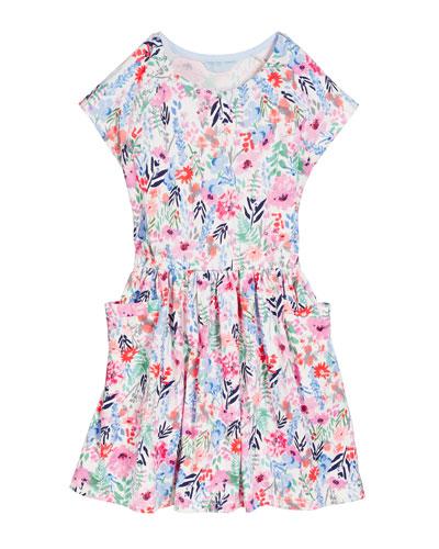 Jude Floral Short-Sleeve Dress  Size 3-10