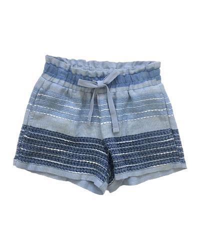 Textured Stripe Shorts  Size 8-14