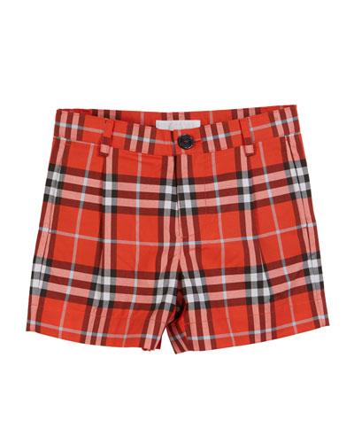 Beckett Check Shorts  Size 3-14