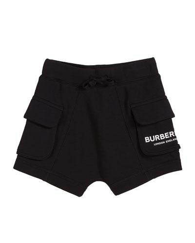 Ines Cotton Logo Shorts  Size 3-14