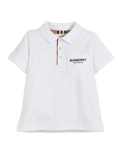 Wesley Polo Shirt w/ Logo Print Front Pocket  Size 3-14