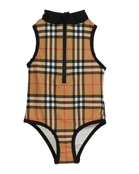 e434493404 Burberry Siera Check One-Piece Swimsuit