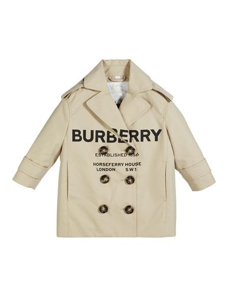 09eebf2f6 Burberry Poppy Logo Print Trench Coat, Size 3-14