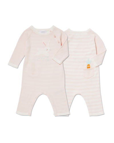 Bunny Intarsia Coverall  Size 0-12 Months