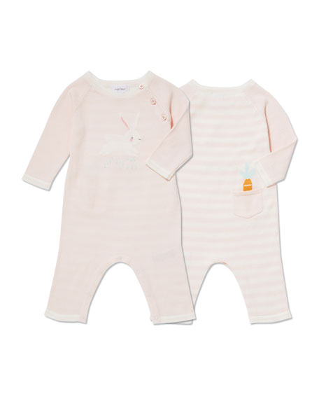 Angel Dear Bunny Intarsia Coverall, Size 0-12 Months