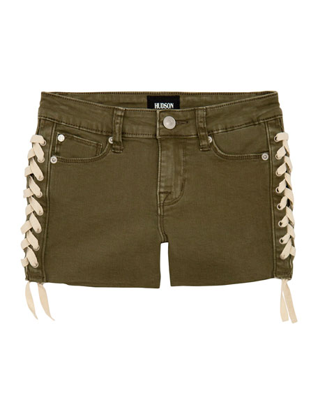 Girls' Bailey Shorts w/ Lace-Up Sides, Size 7-16