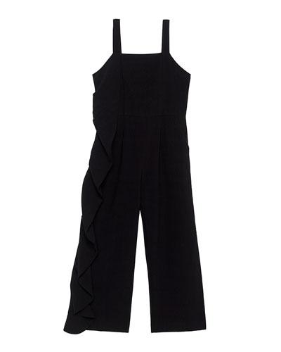 Carissa Ruffle-Trim Sleeveless Jumpsuit  Size 8-16
