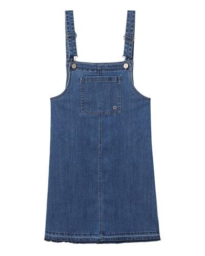 Girls' Penelope Overall Denim Dress  Size S-L