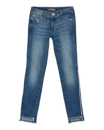 Chloe Raw Hem Denim Skinny Jeans  Size 7-16