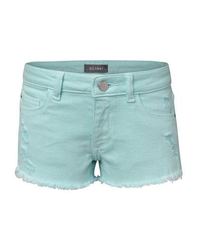 Girls' Lucy Distressed Raw-Hem Shorts  Size 7-16