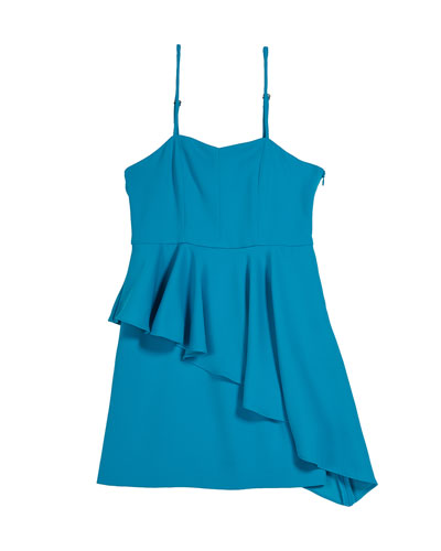 Elizabeth Asymmetric Ruffle Dress  Size 7-16