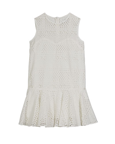 Sandy Eyelet Embroidered Dress  Size 7-16