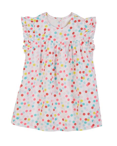 Joules Betty Multicolored Dot Dress w/ Matching Bloomers,