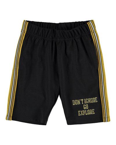 Ari Don't Ignore Go Explore Gym Shorts  Size 4-12