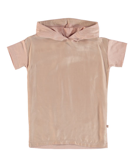 Molo REHANNA TWO-TONE HOODED T-SHIRT