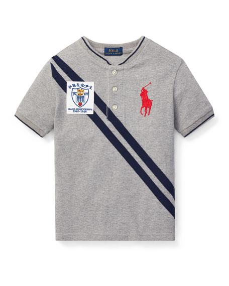 Ralph Lauren Childrenswear Jersey Style Henley Top, Size