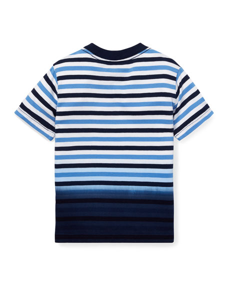Jersey Striped Ombre Top, Size 5-7